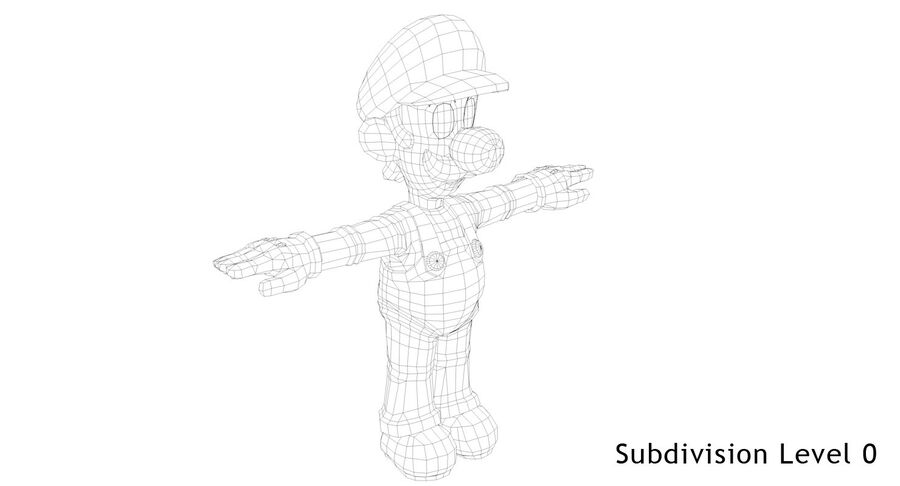 Luigi Rigged royalty-free 3d model - Preview no. 15