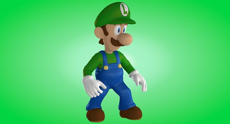 Luigi Rigged royalty-free 3d model - Preview no. 10