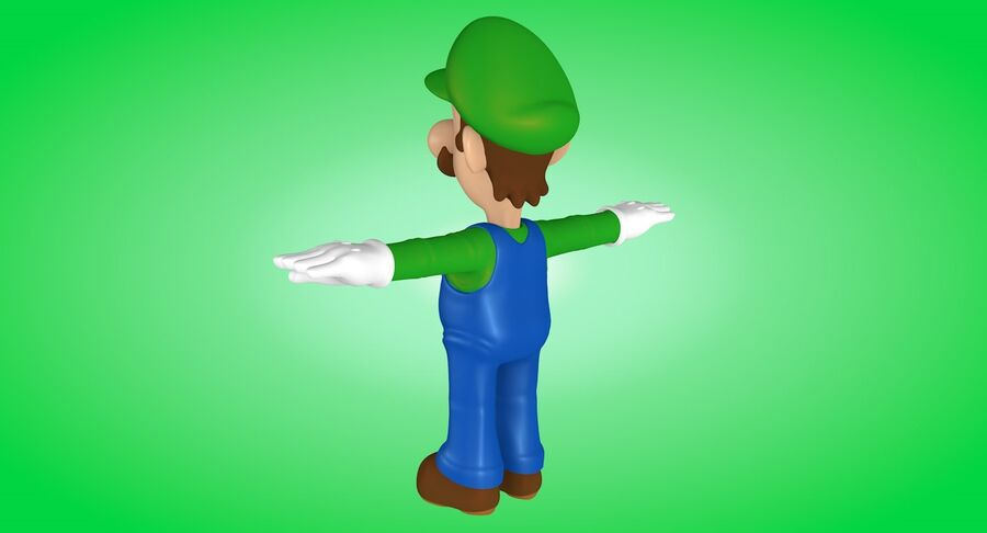 Luigi Rigged royalty-free 3d model - Preview no. 5