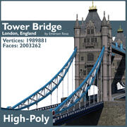 Highly Detailed Tower Bridge 3d model