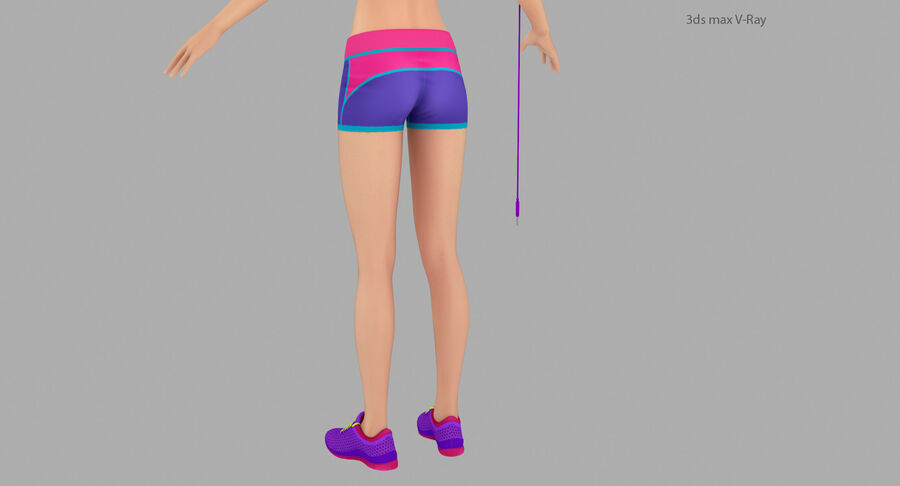 Fitness Model A5 royalty-free 3d model - Preview no. 21