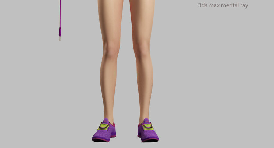 Fitness Model A5 royalty-free 3d model - Preview no. 51