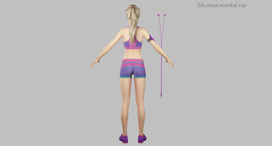 Fitness Model A5 royalty-free 3d model - Preview no. 44