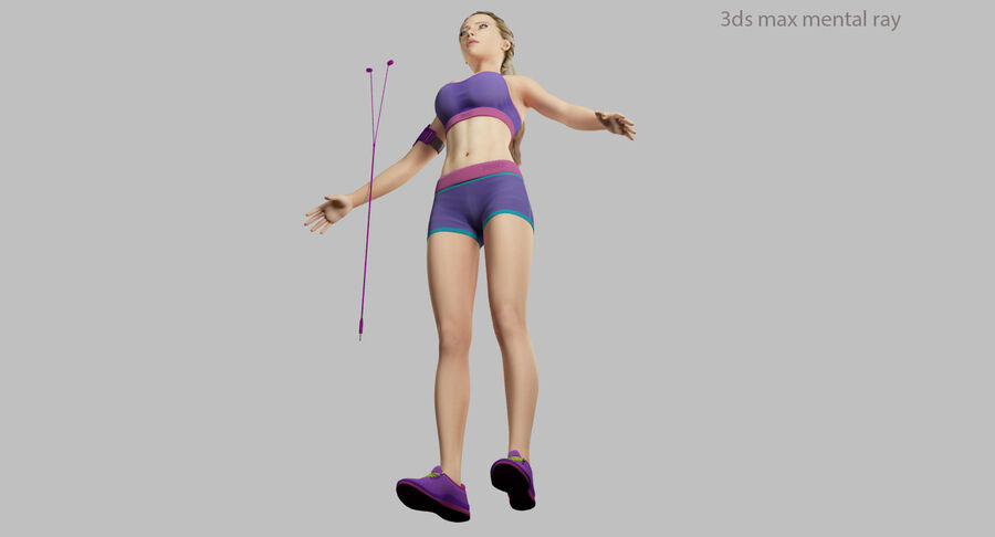 Fitness Model A5 royalty-free 3d model - Preview no. 48