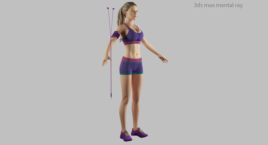 Fitness Model A5 royalty-free 3d model - Preview no. 41