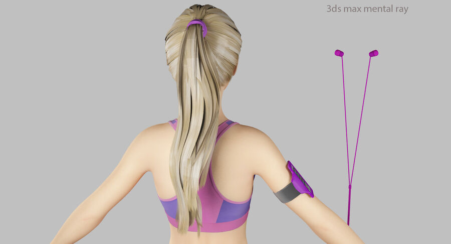 Fitness Model A5 royalty-free 3d model - Preview no. 54