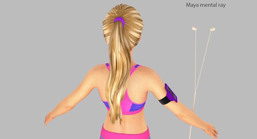 Fitness Model A5 royalty-free 3d model - Preview no. 31