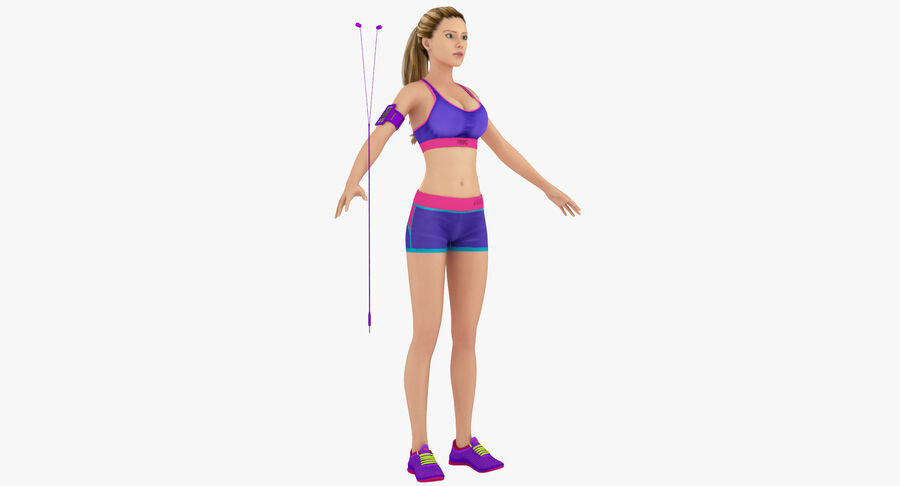 Fitness Model A5 royalty-free 3d model - Preview no. 2