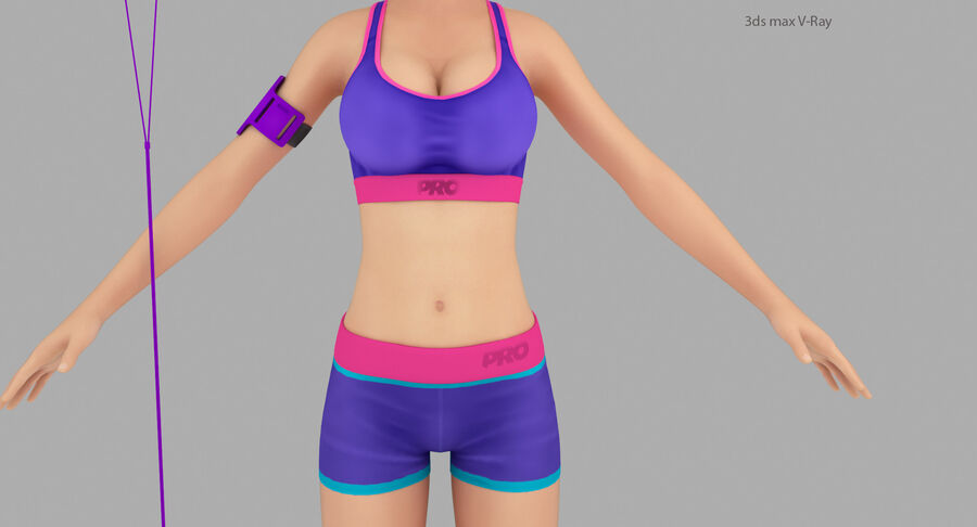 Fitness Model A5 royalty-free 3d model - Preview no. 14