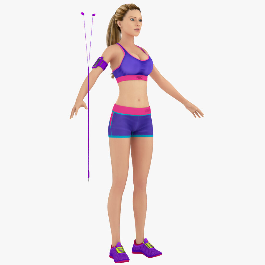 Fitness Model A5 royalty-free 3d model - Preview no. 1