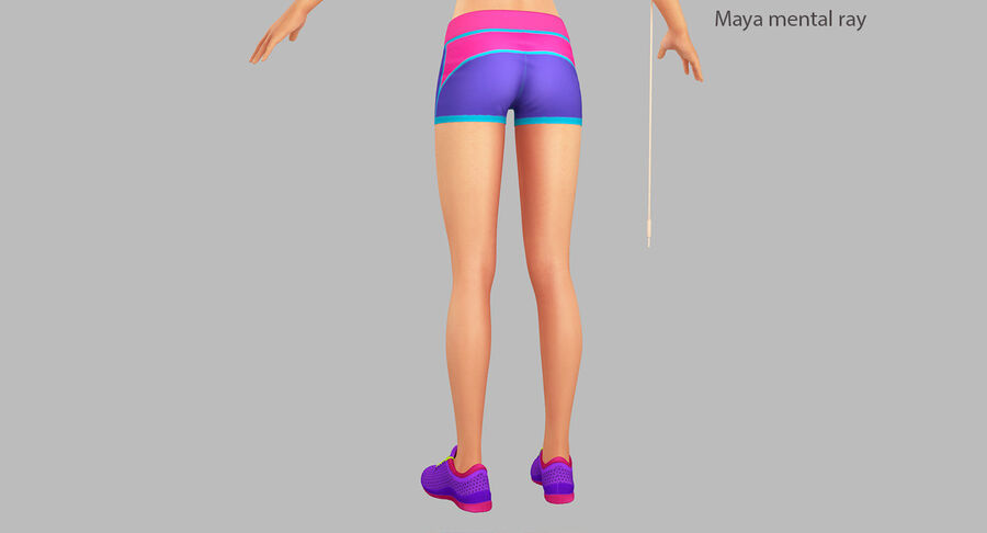 Fitness Model A5 royalty-free 3d model - Preview no. 36