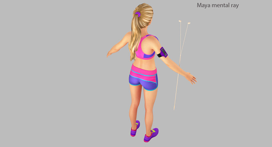 Fitness Model A5 royalty-free 3d model - Preview no. 27