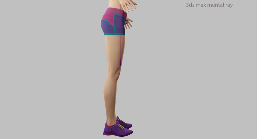 Fitness Model A5 royalty-free 3d model - Preview no. 53