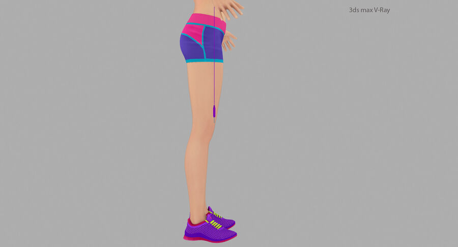 Fitness Model A5 royalty-free 3d model - Preview no. 18