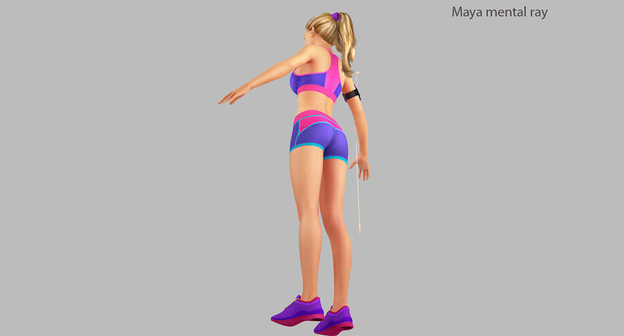 Fitness Model A5 royalty-free 3d model - Preview no. 28