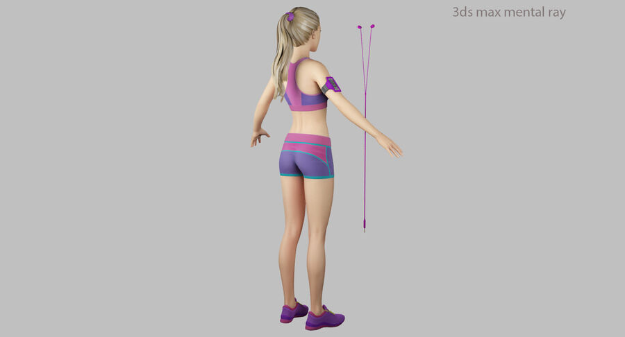 Fitness Model A5 royalty-free 3d model - Preview no. 43