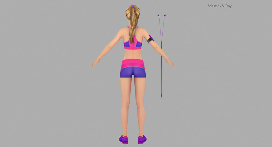 Fitness Model A5 royalty-free 3d model - Preview no. 8