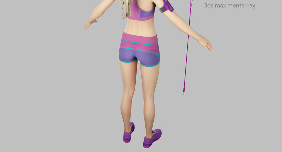 Fitness Model A5 royalty-free 3d model - Preview no. 56