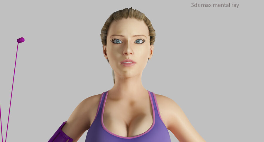 Fitness Model A5 royalty-free 3d model - Preview no. 49