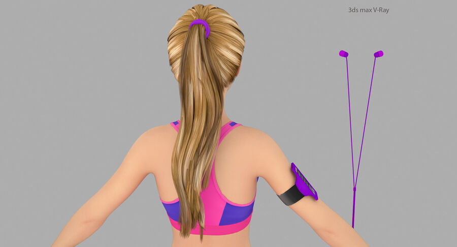 Fitness Model A5 royalty-free 3d model - Preview no. 20