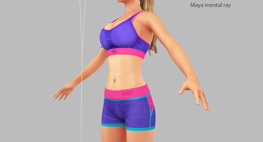 Fitness Model A5 royalty-free 3d model - Preview no. 32