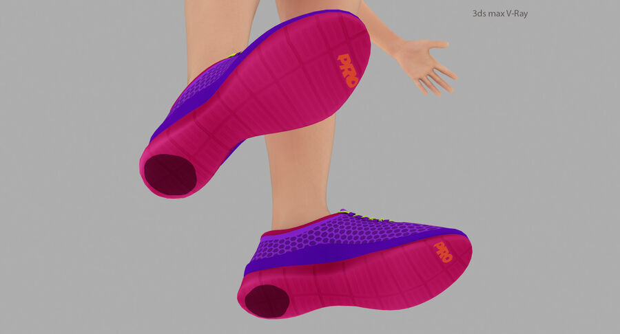 Fitness Model A5 royalty-free 3d model - Preview no. 17