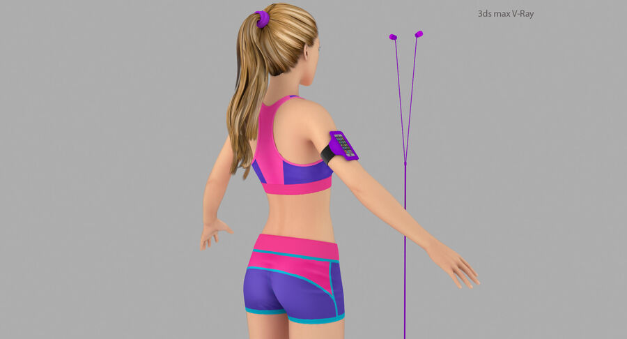 Fitness Model A5 royalty-free 3d model - Preview no. 10