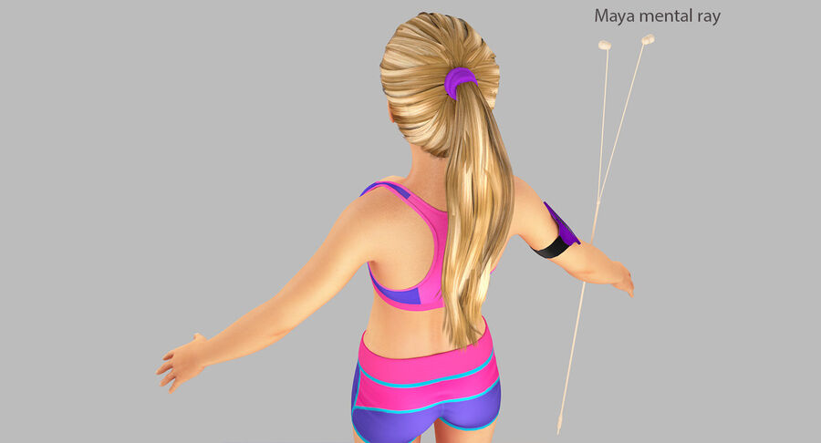 Fitness Model A5 royalty-free 3d model - Preview no. 37