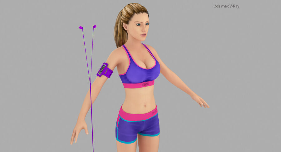 Fitness Model A5 royalty-free 3d model - Preview no. 22