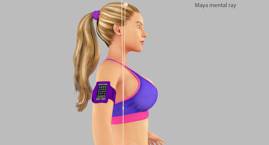 Fitness Model A5 royalty-free 3d model - Preview no. 30