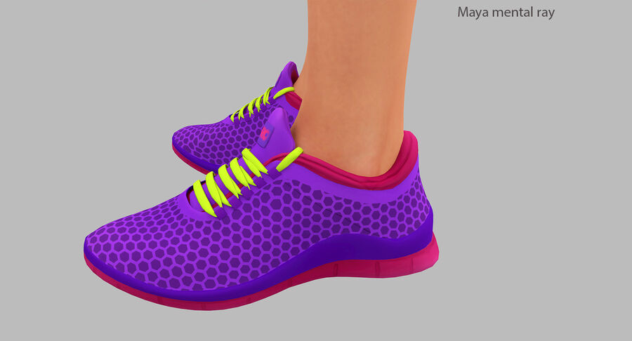 Fitness Model A5 royalty-free 3d model - Preview no. 35