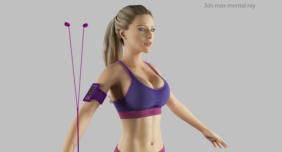 Fitness Model A5 royalty-free 3d model - Preview no. 45
