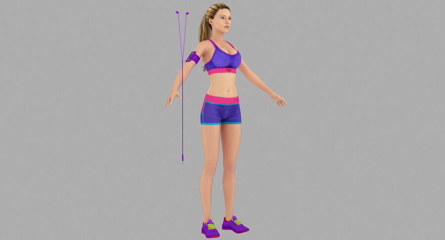 Fitness Model A5 royalty-free 3d model - Preview no. 3