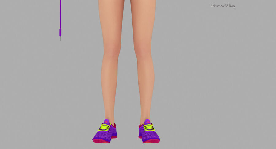 Fitness Model A5 royalty-free 3d model - Preview no. 15
