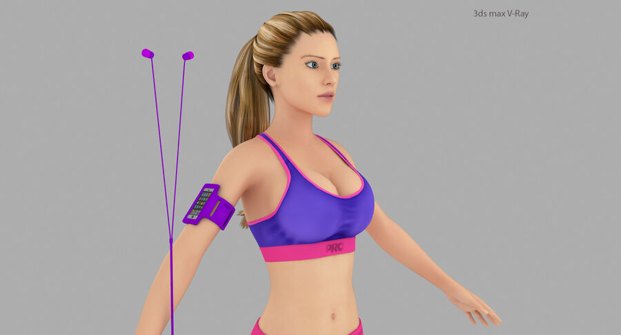 Fitness Model A5 royalty-free 3d model - Preview no. 9