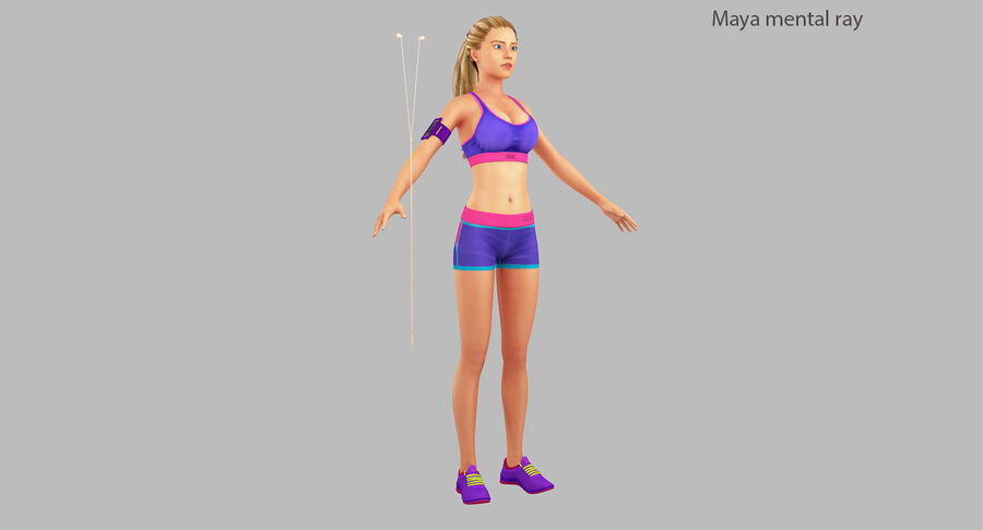 Fitness Model A5 royalty-free 3d model - Preview no. 24