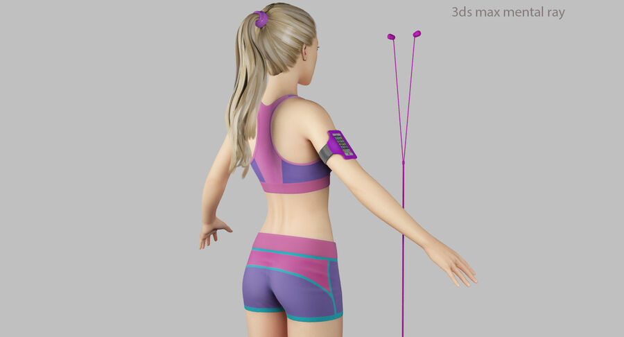 Fitness Model A5 royalty-free 3d model - Preview no. 46