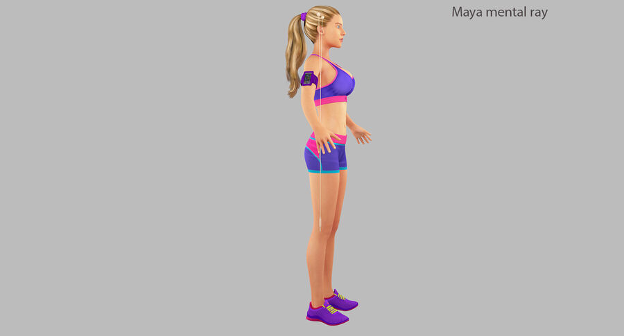 Fitness Model A5 royalty-free 3d model - Preview no. 25