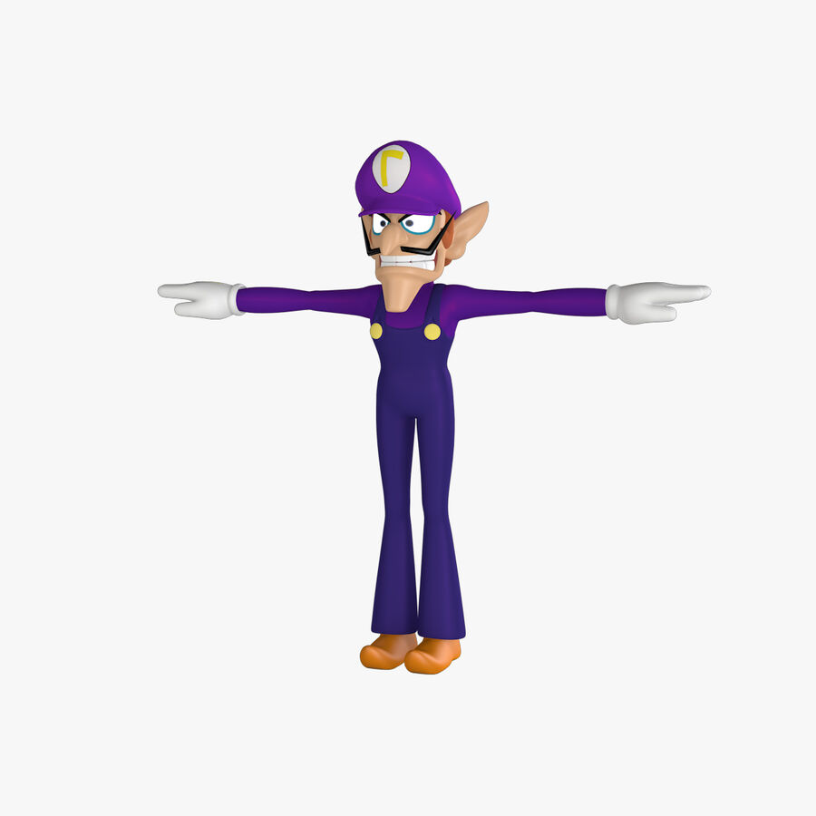 Waluigi Rigged royalty-free 3d model - Preview no. 1