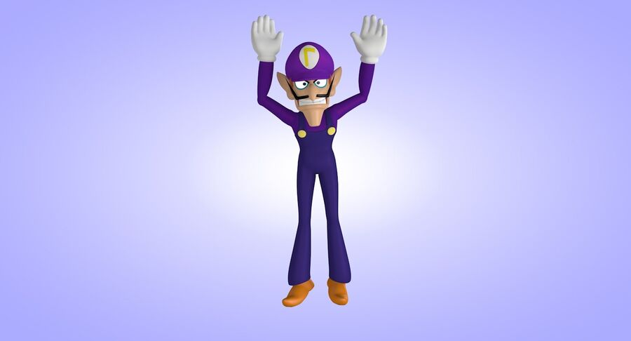 Waluigi Rigged royalty-free 3d model - Preview no. 12