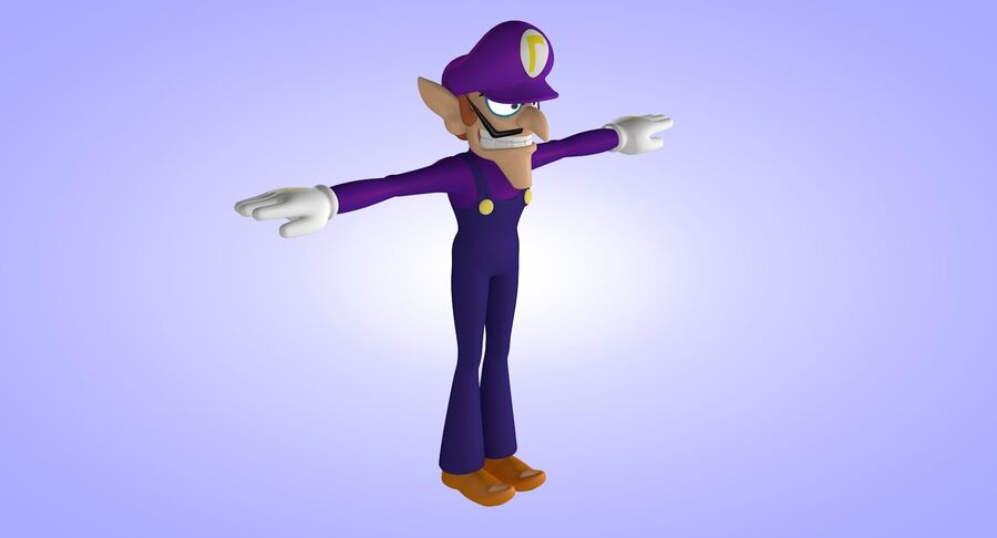 Waluigi Rigged royalty-free 3d model - Preview no. 4