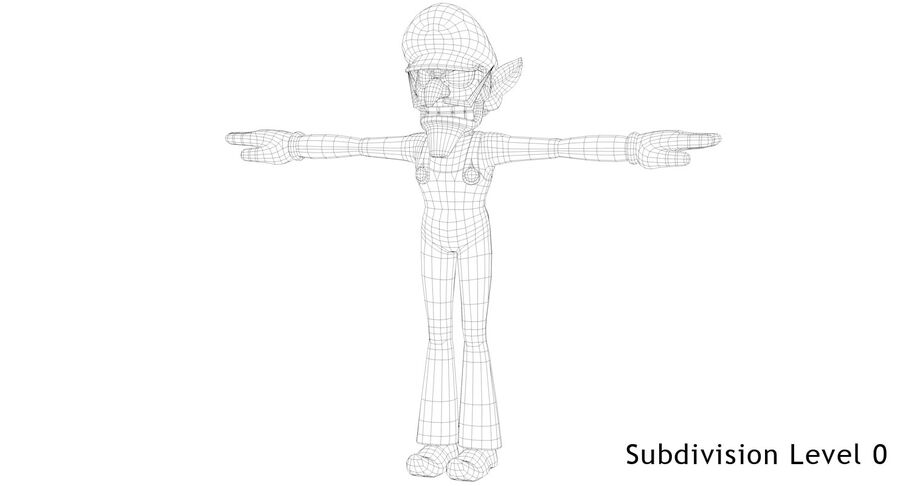 Waluigi Rigged royalty-free 3d model - Preview no. 13