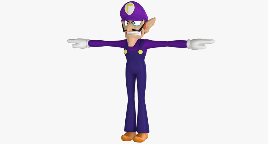 Waluigi Rigged royalty-free 3d model - Preview no. 2