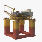 Plataforma de producción semisumergible modelo 3d