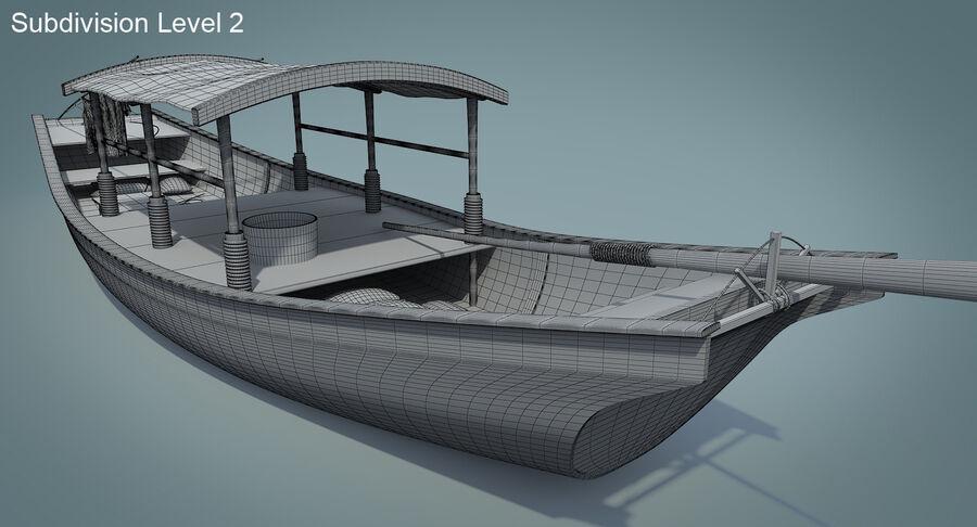중국 보트 1 royalty-free 3d model - Preview no. 20