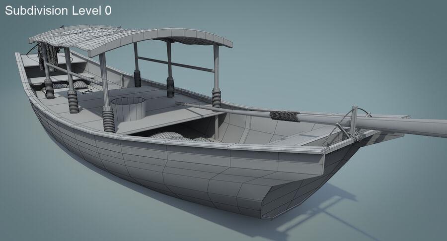 중국 보트 1 royalty-free 3d model - Preview no. 18