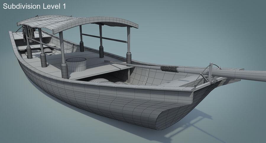 중국 보트 1 royalty-free 3d model - Preview no. 19