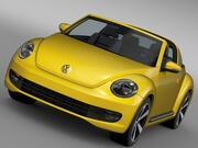VW Beetle Targa 2016 г. 3d model