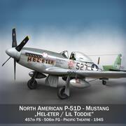 Kuzey Amerika P-51D - Hel-eter 3d model
