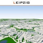 Ville de Leipzig terminée 3d model